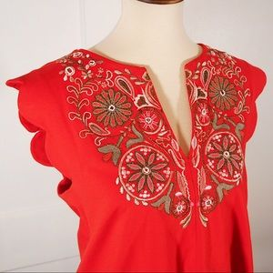 ANTHRO Embroidered Blouse